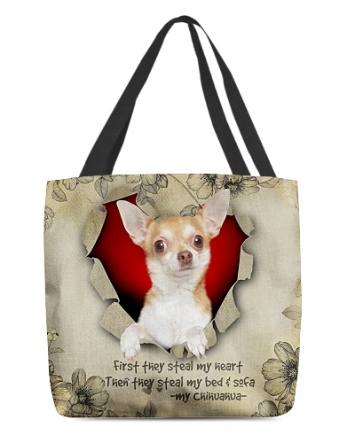 DogTee Chihuahua Stealer All Over Print Tote Bag