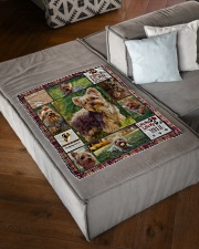 "DogTee Blanket Yorkie Enjoy Gift For Dog Lovers Small Fleece Blanket - 30"" x 40"" aos-coral-fleece-blanket-30x40-lifestyle-front-03"