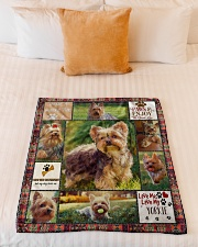 "DogTee Blanket Yorkie Enjoy Gift For Dog Lovers Small Fleece Blanket - 30"" x 40"" aos-coral-fleece-blanket-30x40-lifestyle-front-04"
