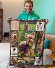 "DogTee Blanket Yorkie Enjoy Gift For Dog Lovers Small Fleece Blanket - 30"" x 40"" aos-coral-fleece-blanket-30x40-lifestyle-front-09"
