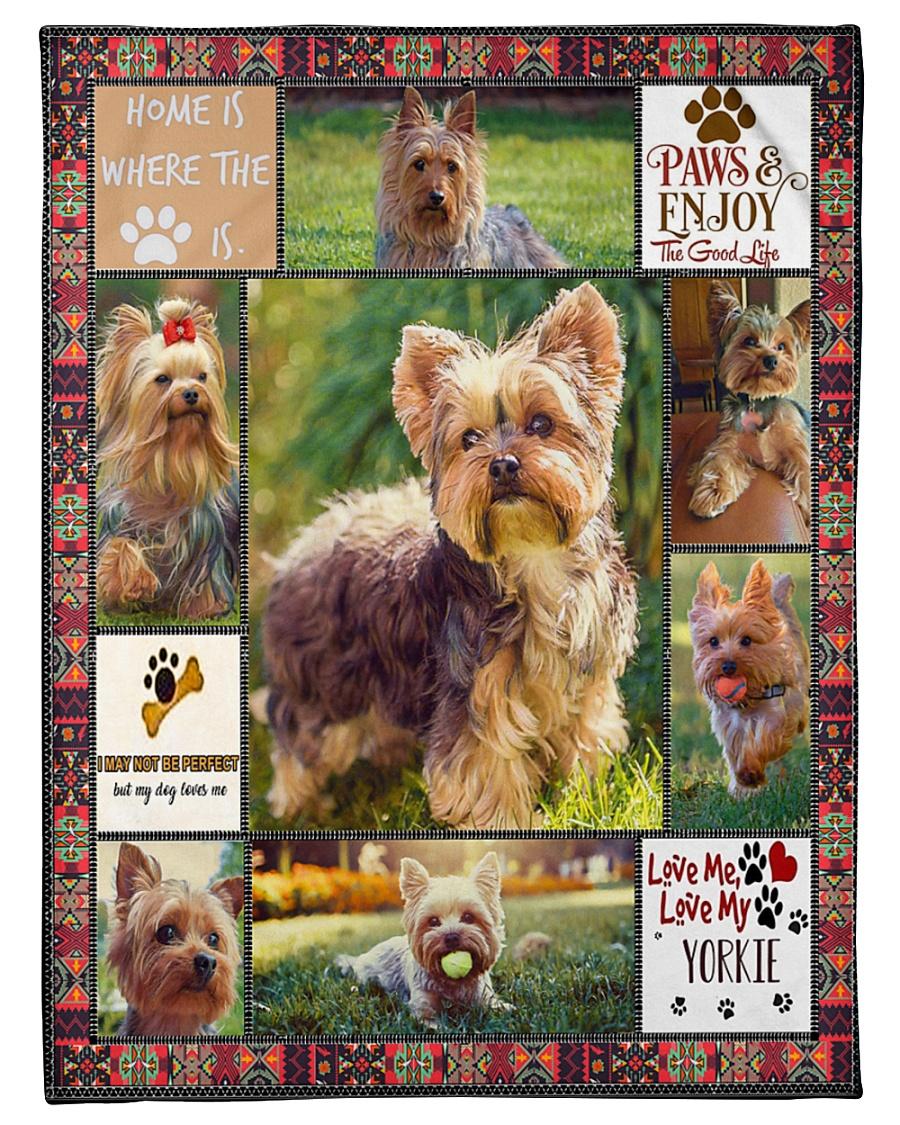 "DogTee Blanket Yorkie Enjoy Gift For Dog Lovers Small Fleece Blanket - 30"" x 40"""