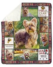 "DogTee Blanket Yorkie Enjoy Gift For Dog Lovers Sherpa Fleece Blanket - 50"" x 60"" thumbnail"