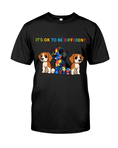 DogTee Beagle It's Ok To Be Different