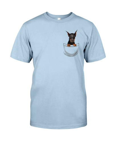 DogTee Doberman Pocket Pups Gift For Dog Lovers