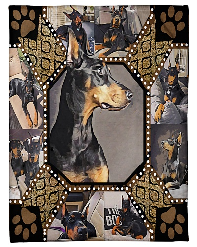 Doberman Cut Ears Embroidery