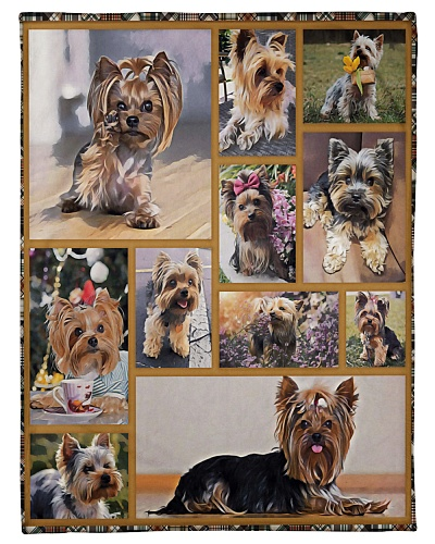 DogTee Blanket Yorkie Cute Gift For Dog Lovers