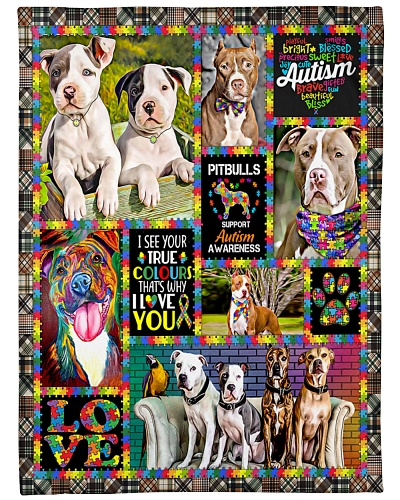 DogTee American Pit Bull Terrier Autism Cute
