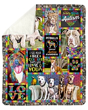 "DogTee American Pit Bull Terrier Autism Cute Sherpa Fleece Blanket - 50"" x 60"" thumbnail"