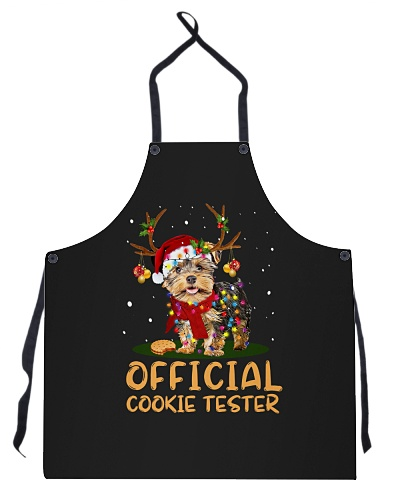 DogTee Yorkie Official Cookie Tester Apron