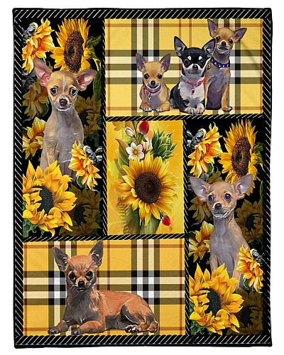 DogTee Chihuahua Yellow Tartan Gift For Dog Lovers
