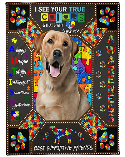 DogTee Labrador Autism Embroidery For Dog Lovers