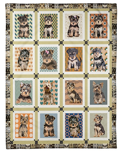 DogTee Yorkie Patching Pattern Gift For Dog Lovers