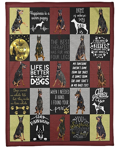 DogTee Doberman Loving Quotes Gift For Dog Lovers