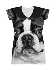 HD Strong Bos Terrier All-over Dress thumbnail