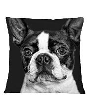 HD Strong Bos Terrier Square Pillowcase thumbnail