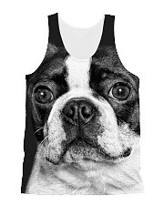 HD Strong Bos Terrier All-over Unisex Tank front