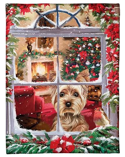 DogTee Blanket Yorkshire Terrier Christmas Window