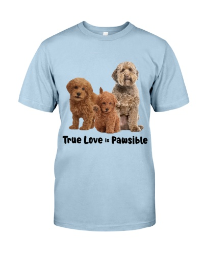 DogTee Goldendoodle True Love Is Pawsible