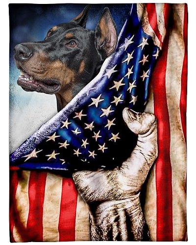 DogTee Doberman Patriotic Four Legged