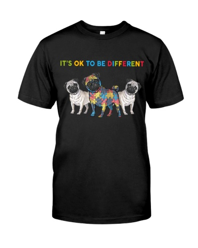 DogTee Pug It's Ok To Be Different