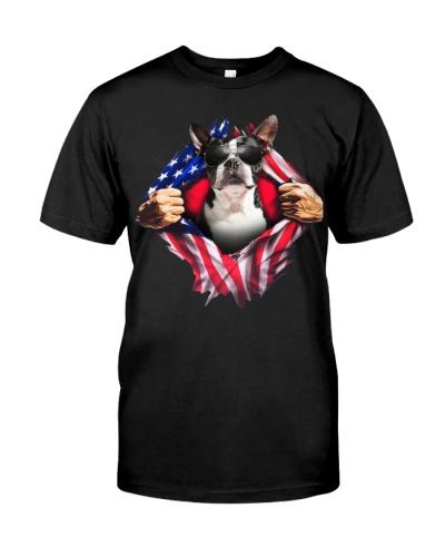 Boston Terrier Flag Chest
