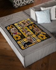 "DogTee Yorkie Yellow Tartan Gift For Dog Lovers Small Fleece Blanket - 30"" x 40"" aos-coral-fleece-blanket-30x40-lifestyle-front-03"