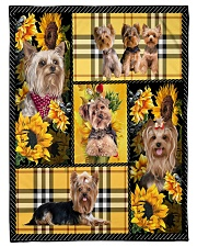 "DogTee Yorkie Yellow Tartan Gift For Dog Lovers Small Fleece Blanket - 30"" x 40"" front"