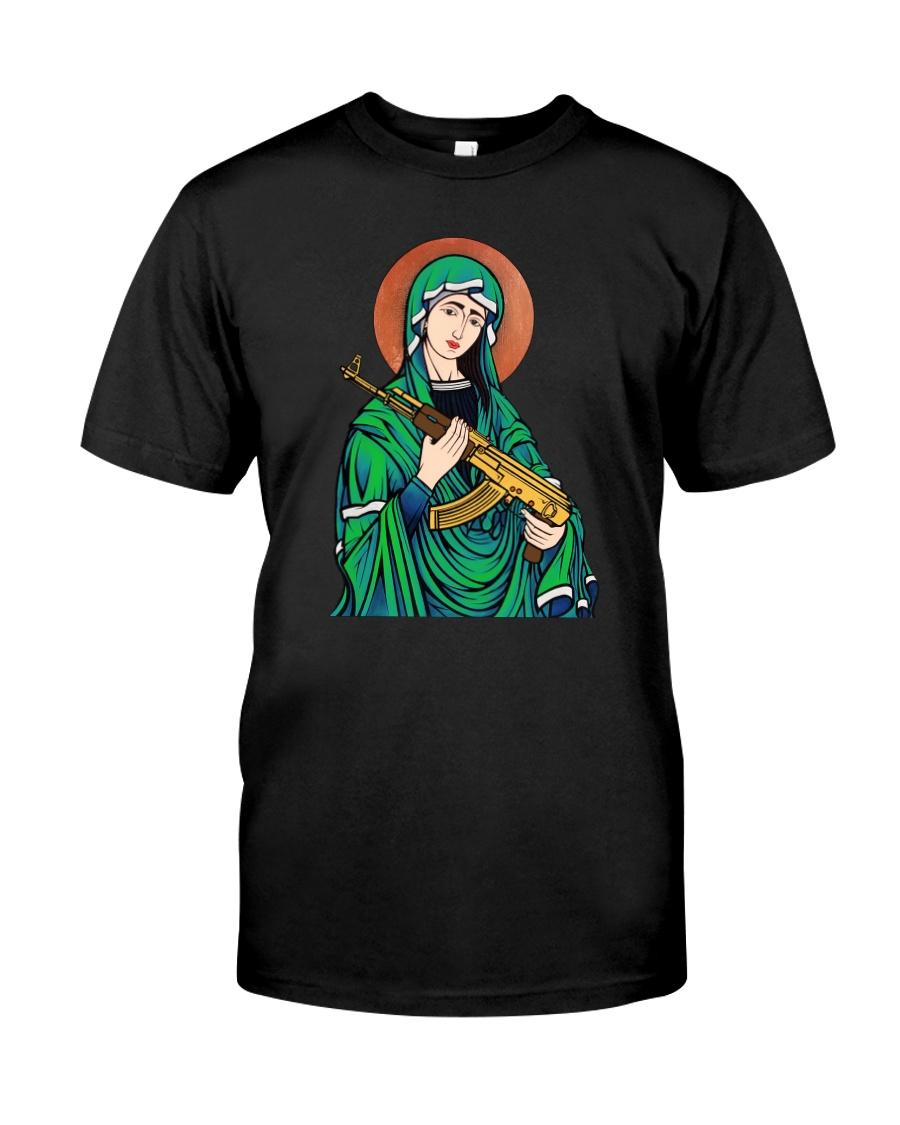 Virgin Mary AK47 Classic T-Shirt