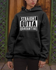 Straight Outta Quarantine  Hooded Sweatshirt apparel-hooded-sweatshirt-lifestyle-front-03