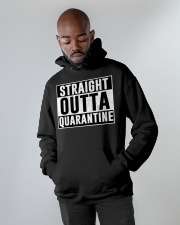 Straight Outta Quarantine  Hooded Sweatshirt apparel-hooded-sweatshirt-lifestyle-front-09