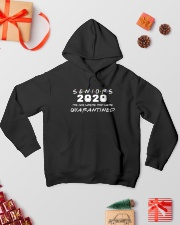 Seniors The One Where They Were Quarantined 2020 Hooded Sweatshirt lifestyle-holiday-hoodie-front-2