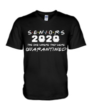 Seniors The One Where They Were Quarantined 2020 V-Neck T-Shirt thumbnail