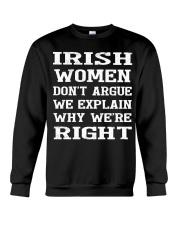 Irish women don't argue Crewneck Sweatshirt thumbnail
