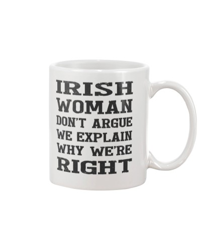 Irish woman don't argue