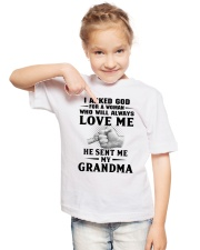 I asked God for a woman who will always love me Youth T-Shirt lifestyle-youth-tshirt-front-2