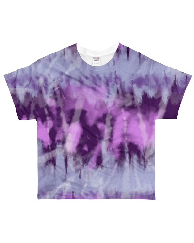 Purple Tie Dye Face Mask Case Sneakers
