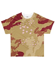Brown Camo Face Mask Case Sneakers All-over T-Shirt thumbnail