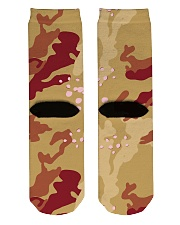 Brown Camo Face Mask Case Sneakers Crew Length Socks back