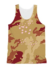 Brown Camo Face Mask Case Sneakers All-over Unisex Tank thumbnail