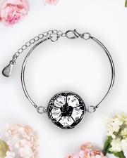 Soccer diamond  Metallic Circle Bracelet aos-bracelet-metal-front-lifestyle-6