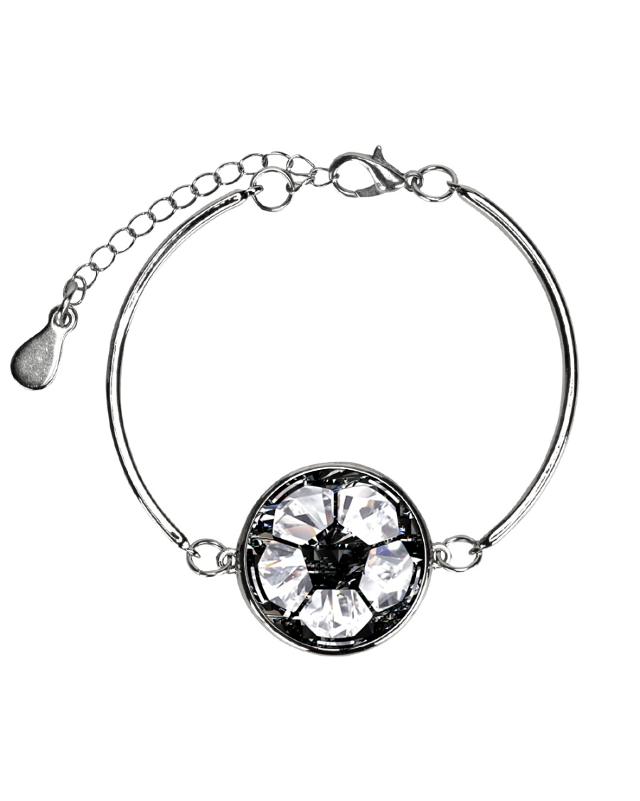 Soccer diamond  Metallic Circle Bracelet
