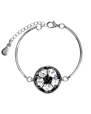 Soccer diamond  Metallic Circle Bracelet front