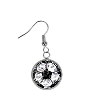 Soccer diamond  Circle Earrings thumbnail