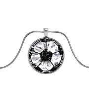 Soccer diamond  Metallic Circle Necklace thumbnail