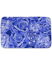 """Beautiful blue roses Bath Mat - 34"""" x 21"""" thumbnail"""