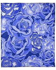 "Beautiful blue roses Fleece Blanket - 50"" x 60"" thumbnail"