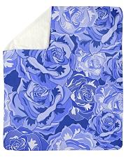 "Beautiful blue roses Sherpa Fleece Blanket - 50"" x 60"" thumbnail"