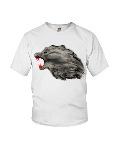 Angry Growling Wolf Design