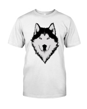 Cool Wolf Face White And Black Color Classic T-Shirt thumbnail