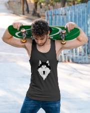 Cool Wolf Face White And Black Color Unisex Tank apparel-tshirt-unisex-sleeveless-lifestyle-front-02